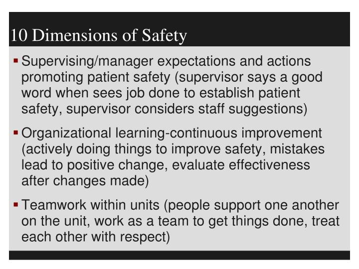 10 Dimensions of Safety