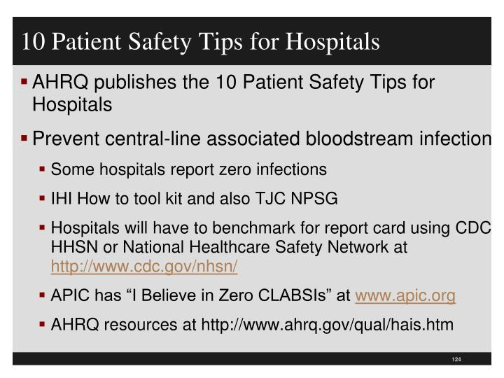 10 Patient Safety Tips for Hospitals