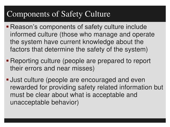 Components of Safety Culture