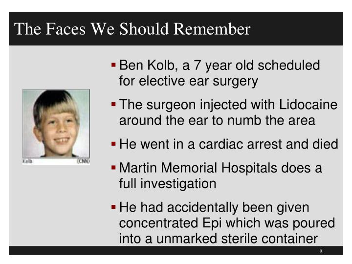 The faces we should remember