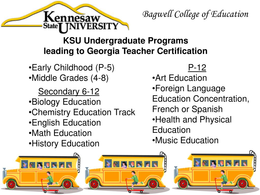 teacher georgia certification programs education ppt powerpoint presentation bagwell college