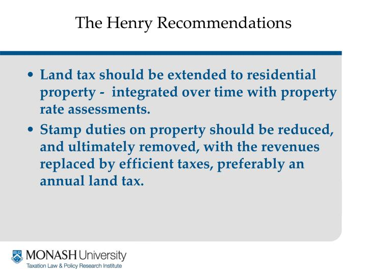 The henry recommendations3