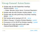 group general action items
