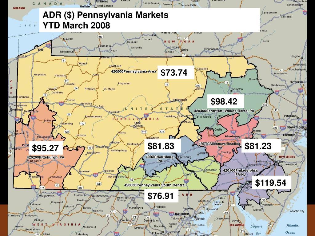 ADR ($) Pennsylvania Markets