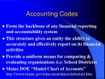accounting codes