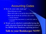 accounting codes23