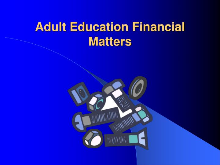 adult education financial matters n.