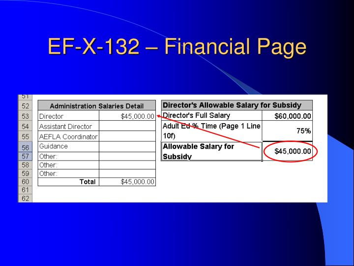 EF-X-132 – Financial Page