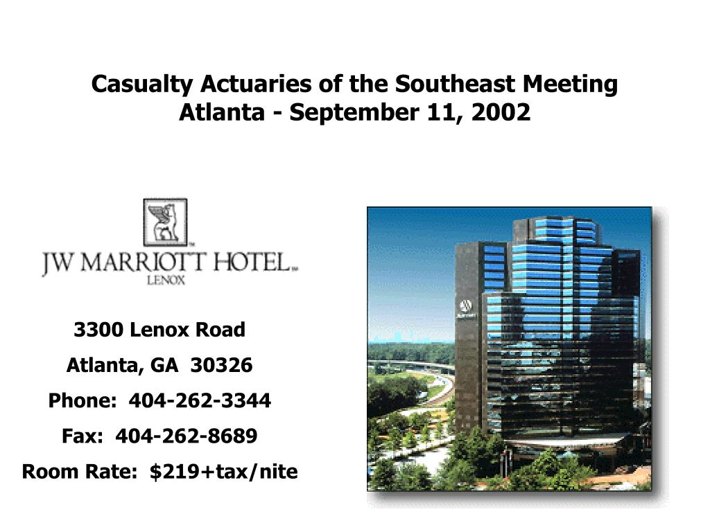 Casualty Actuaries of the Southeast Meeting