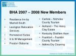 bha 2007 2008 new members