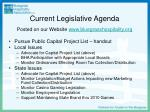 current legislative agenda