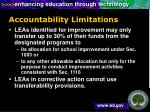 accountability limitations