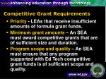 competitive grant requirements