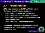 lea transferability
