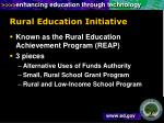 rural education initiative