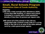 small rural schools program alternative uses of funds authority