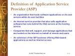 definition of application service provider asp