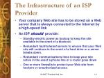 the infrastructure of an isp provider