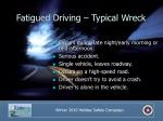 fatigued driving typical wreck