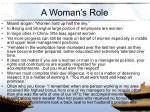 a woman s role