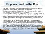 empowerment on the rise
