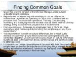 finding common goals