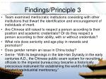 findings principle 3