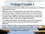 findings principle 4