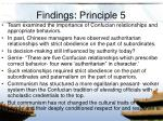 findings principle 5