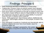 findings principle 6