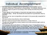 individual accomplishment