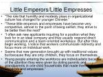 little emperors little empresses