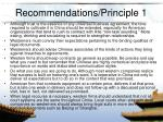 recommendations principle 1