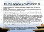 recommendations principle 3