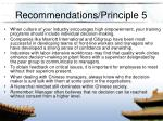 recommendations principle 5