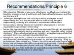 recommendations principle 6