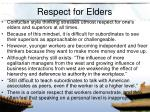 respect for elders