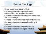 serrie findings