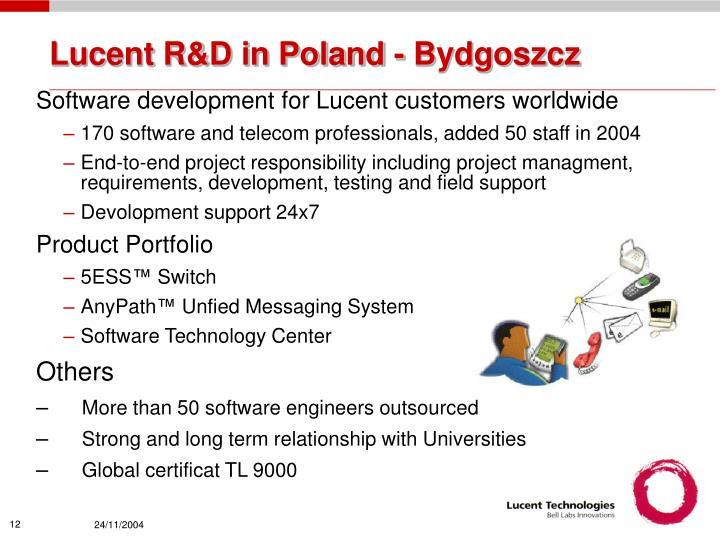 Lucent R&D in Poland - Bydgoszcz