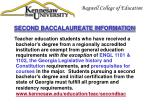 second baccalaureate information