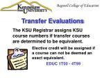 transfer evaluations