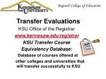 transfer evaluations1