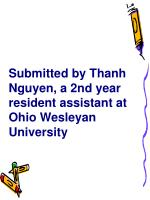 submitted by thanh nguyen a 2nd year resident assistant at ohio wesleyan university