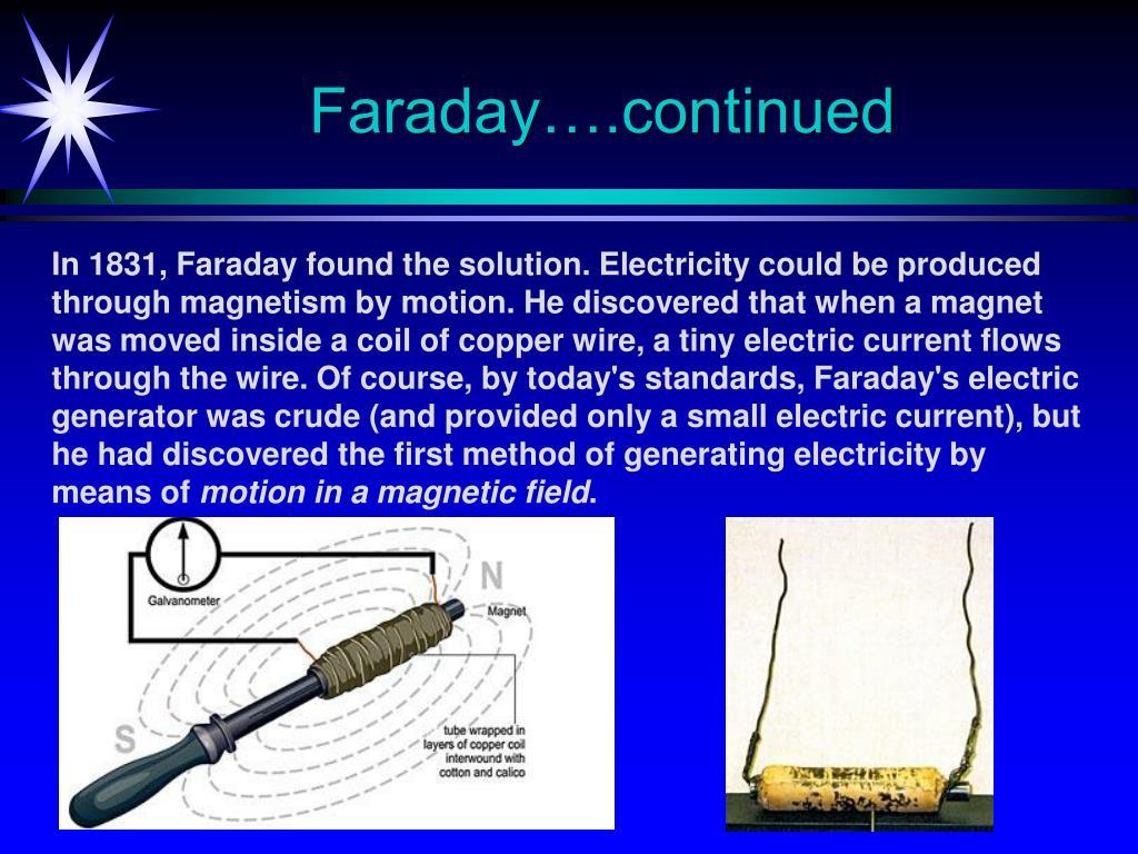 Faraday….continued
