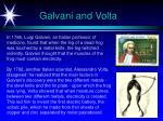 galvani and volta