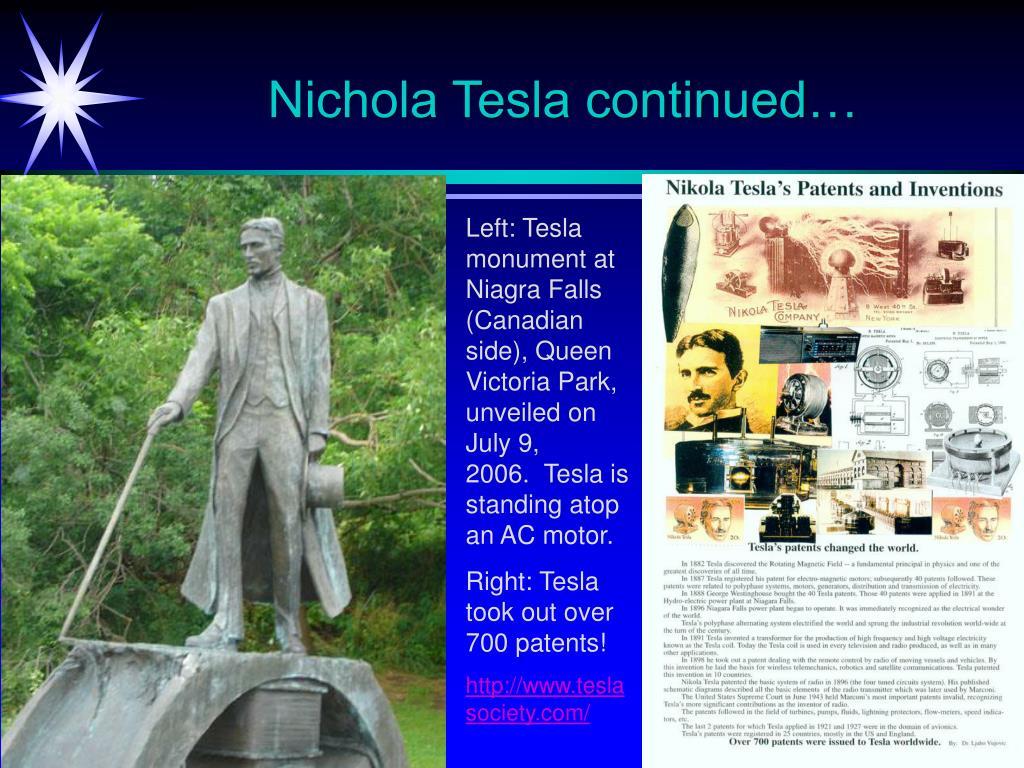 Nichola Tesla continued…