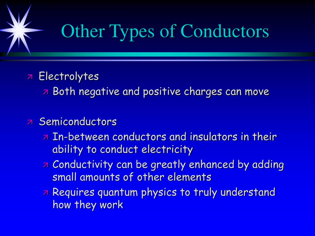 Other Types of Conductors