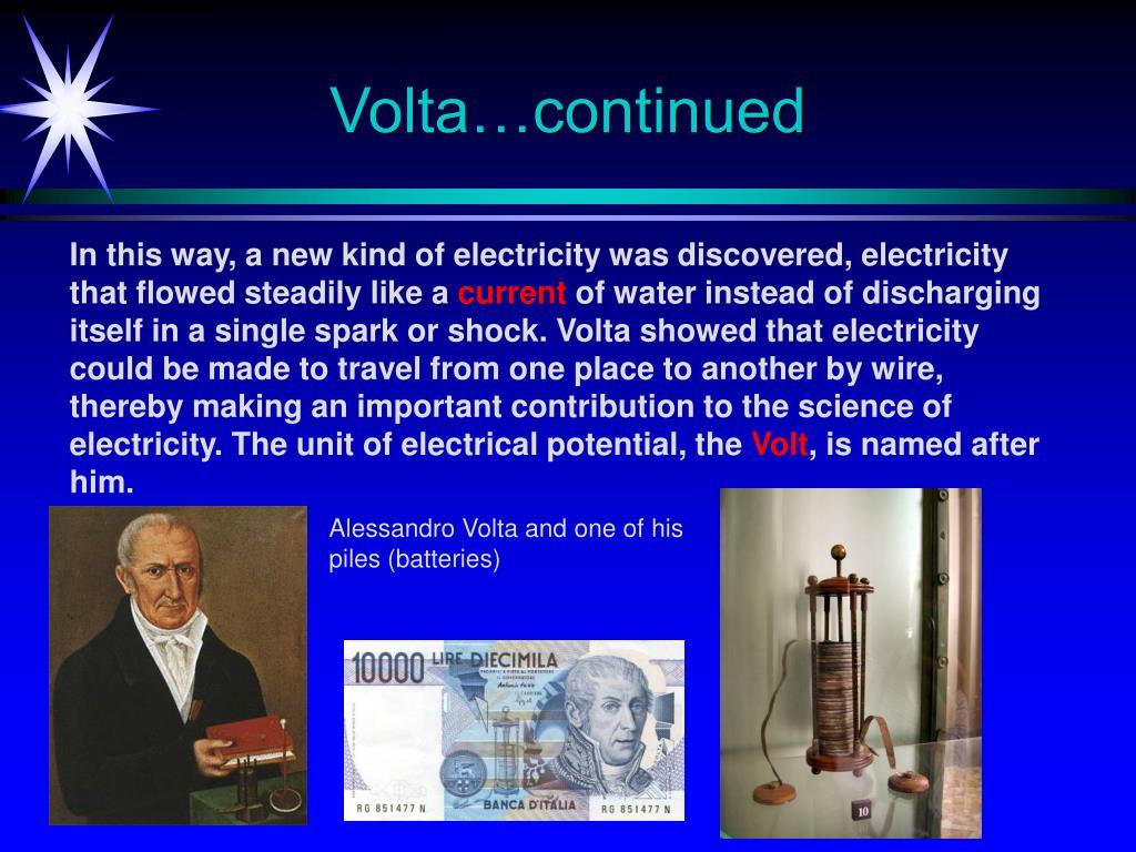 Volta…continued