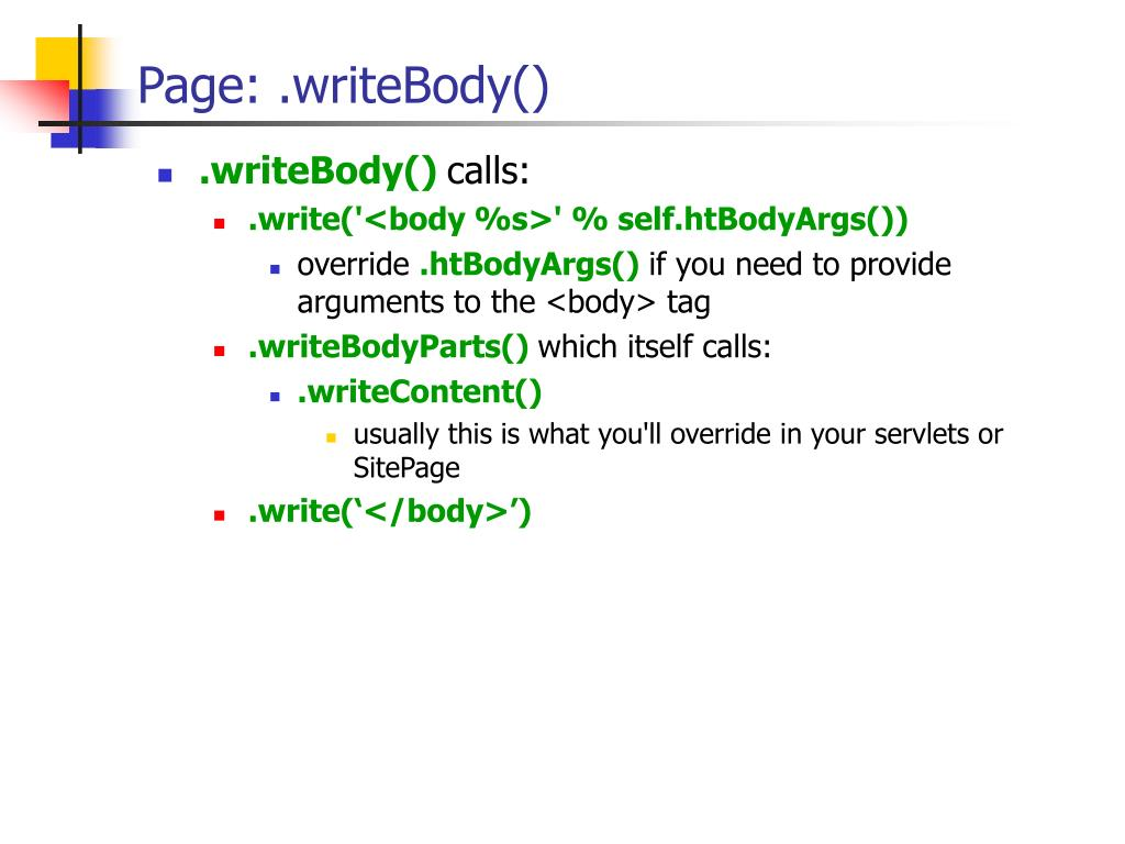 PPT - Webware for Python PowerPoint Presentation - ID:485861