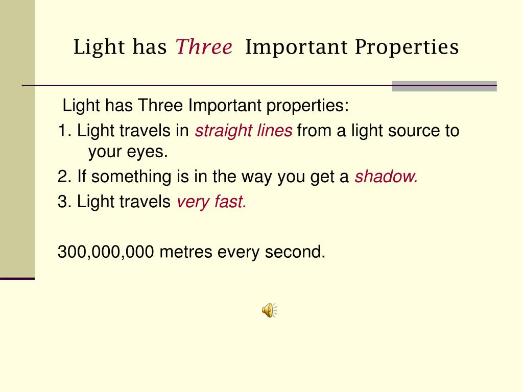 Light has